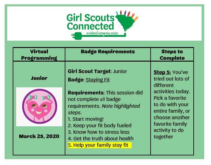 Badge Requirement Staying Fit 3.25.2020 v3