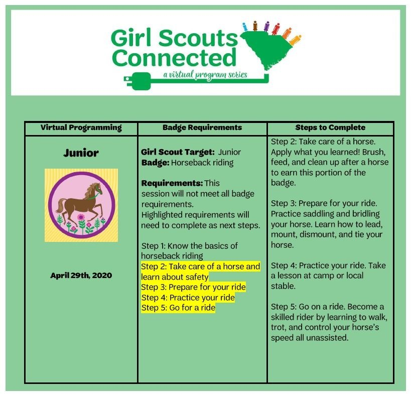 Badge Requirements _Horseback riding