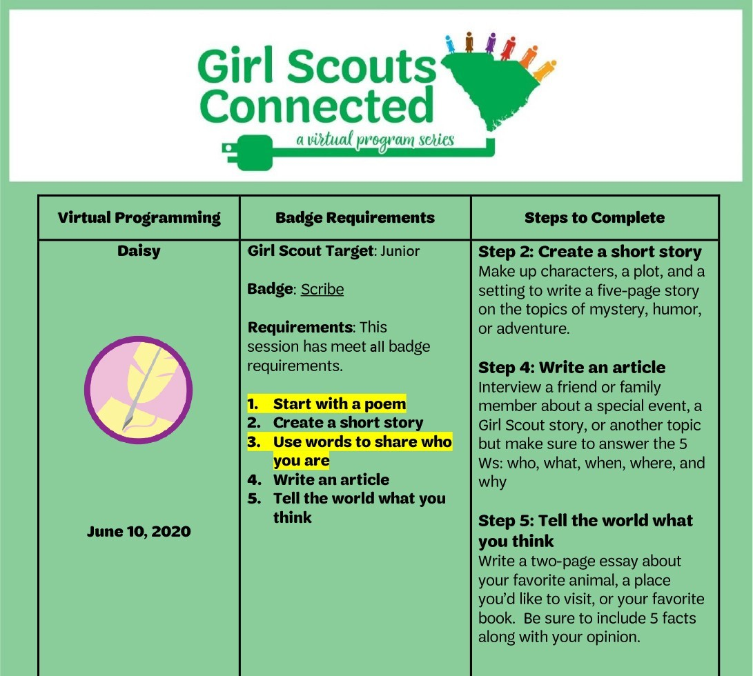 Badge Requirements _Next Steps Junior Scribe Badge 6.10.2020-1