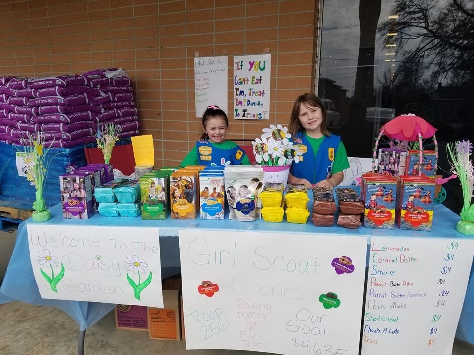 Daisy Troop 2561 cookie booth